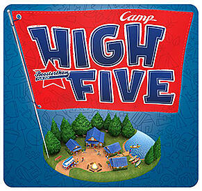 camp high five poster by Boosterthon