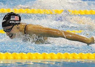 Dana Vollmer two time Olympic gold medal winner  for swimming.