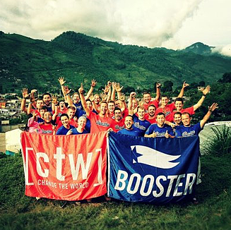 The Boosterthon team in Guatemala, for Operation Playground.