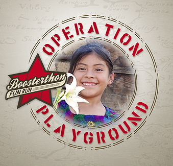 Poster for Boosterthon operation playground!