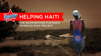 Helping Haiti how booster's fun runs give backpacks to those in need.