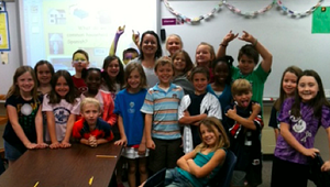 Kemp Elementary students pose for a group photo.