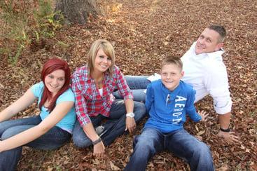 Wilson family poses