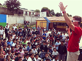 A Booster pep rally in Guatemala.