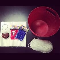 All supplies to make a DIY drum