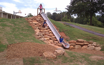 funds raised during a Boosterthon event are used to provide the students with a fun slide.