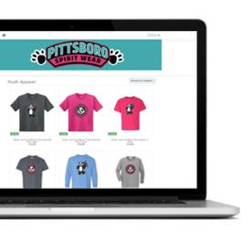 School spirit wear online store dashboard.