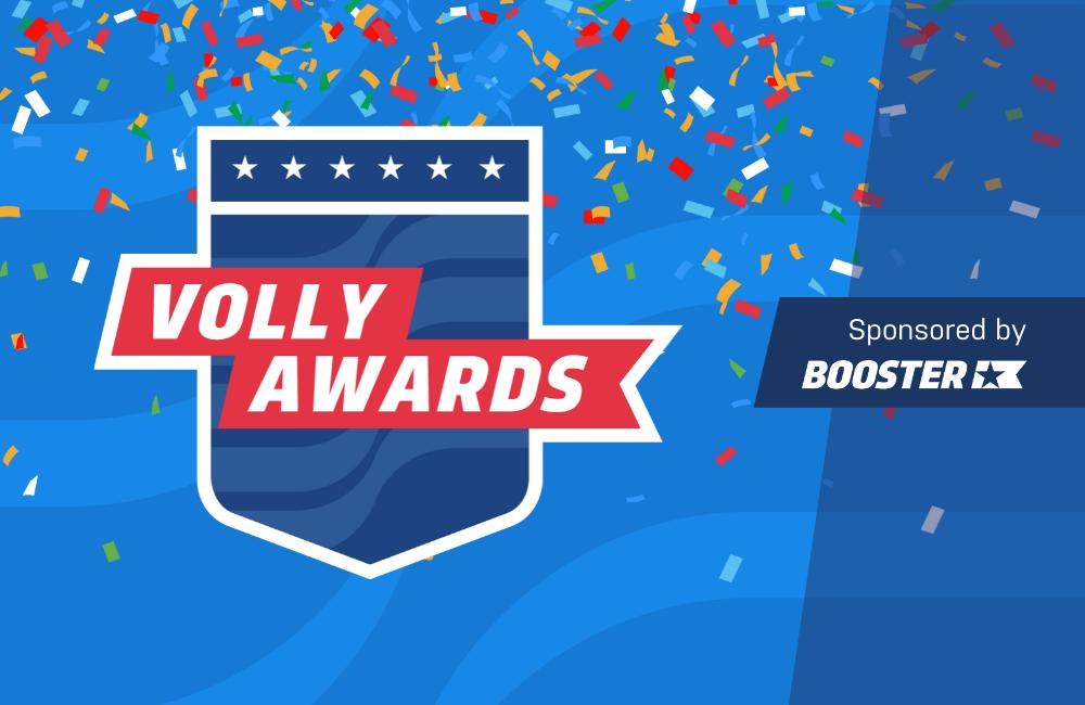 Volly Awards Logo with confetti