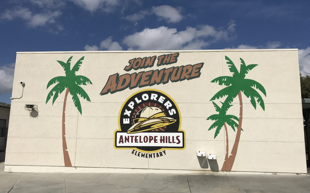 Antelope Hills Elementary mural, Join the Adventure!