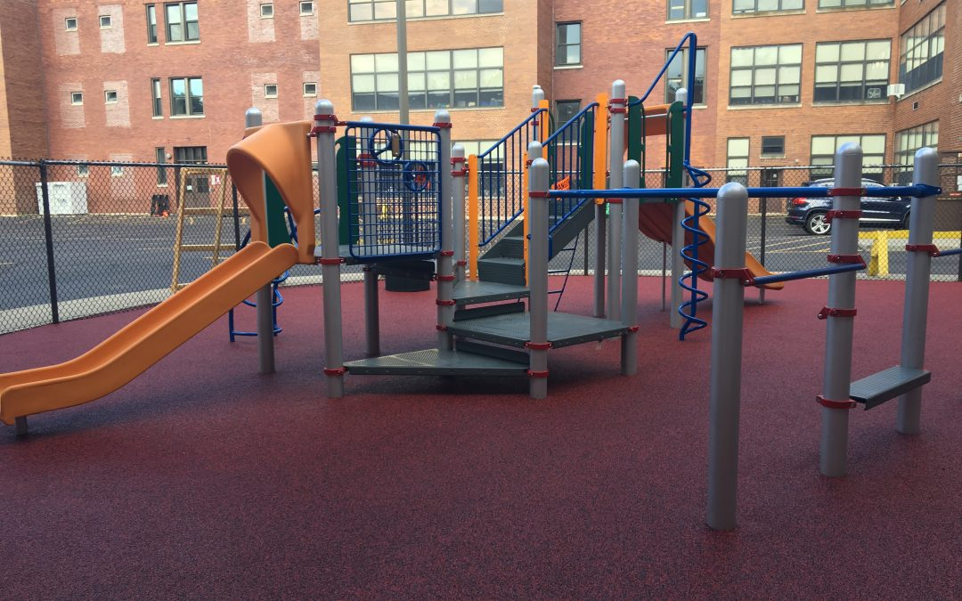 Booster fundraising paid for a new playground.