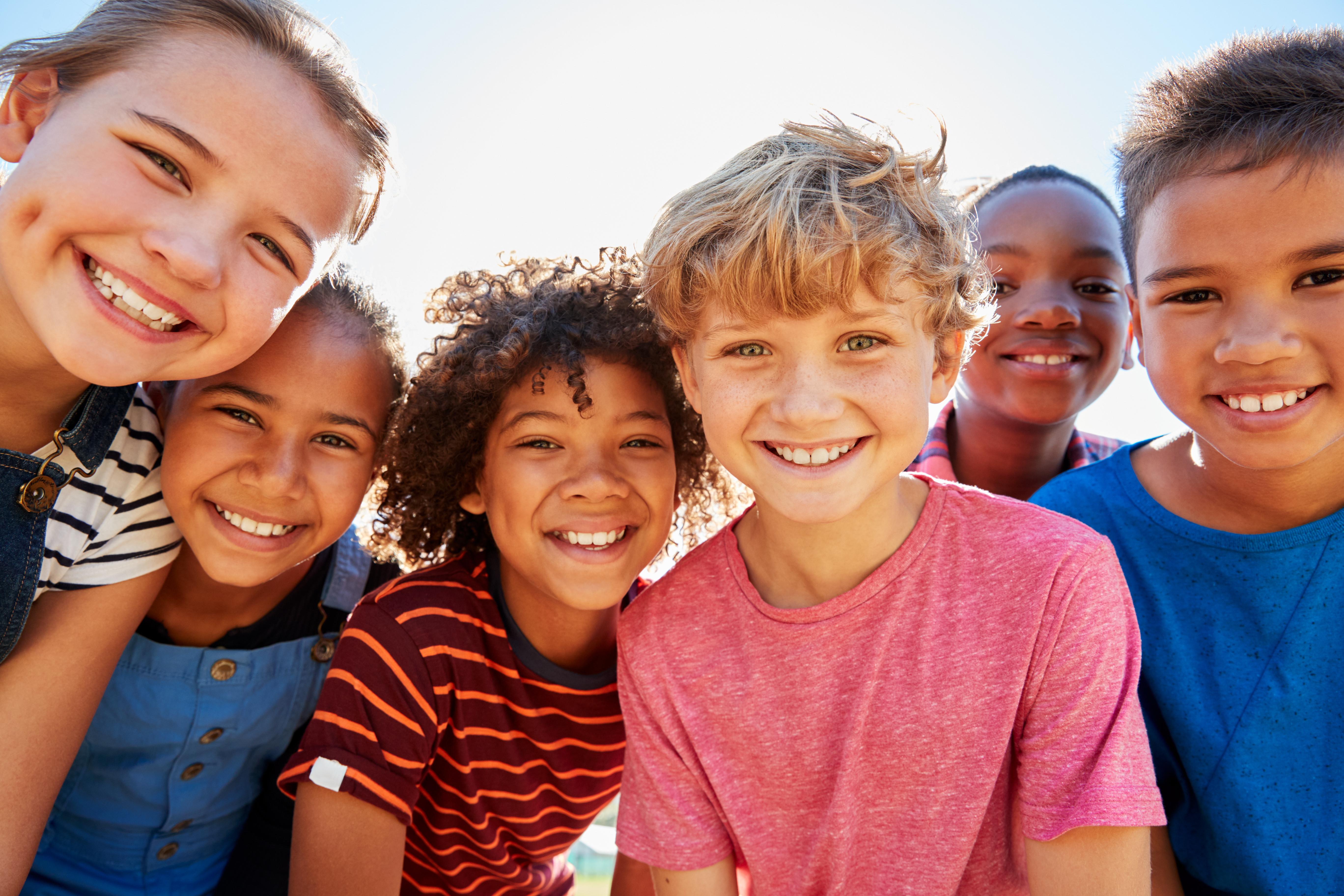 Children smiling together